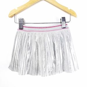 Kate Spade Silver Pleated Skirt 12m